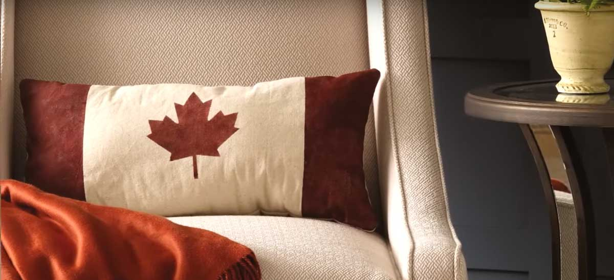 Quick & Easy DIY Canadian Flag Pillow