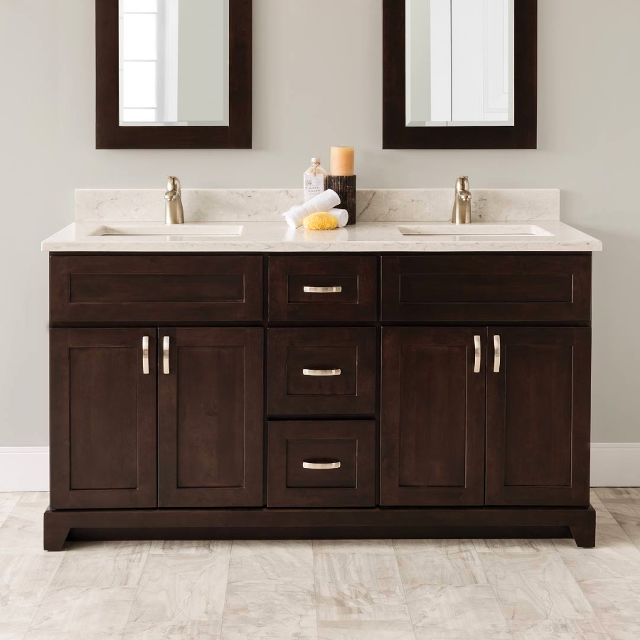 Stonewood Bath Cabinetry 60 Vanity With Granite Or Quartz Top And