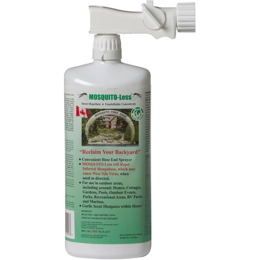 Mosquito-less - 900mL Ready-To-Use Mosquito Garlic Oil Spray, with