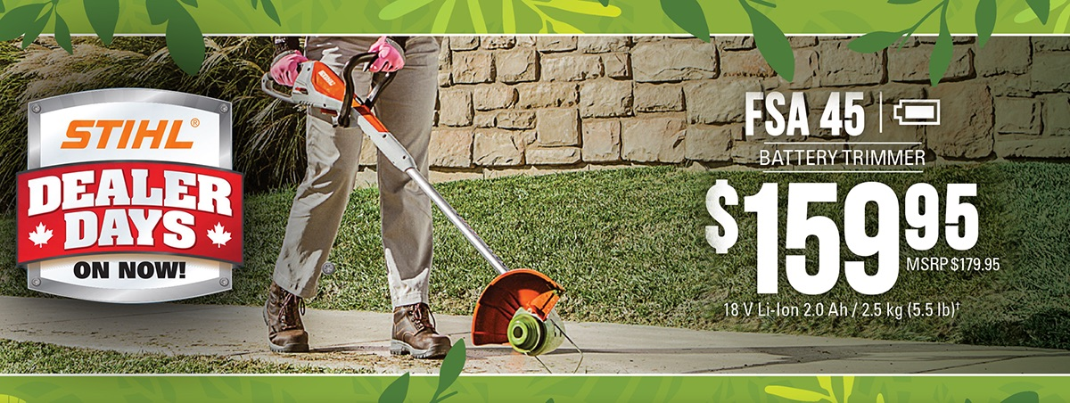 STIHL FSA 45: Grass trimmer with integrated battery