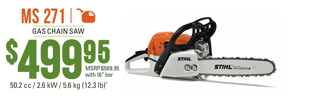 STIHL MS 271: Gas Chain Saw With 16