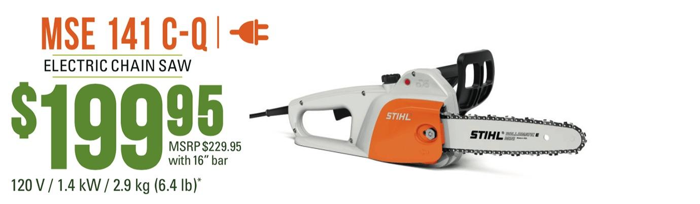 STIHL MSE 141 C-Q: Lightweight entry-level model