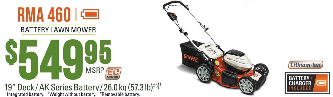 STIHL RMA 460: Lithium-Ion Lawn Mower