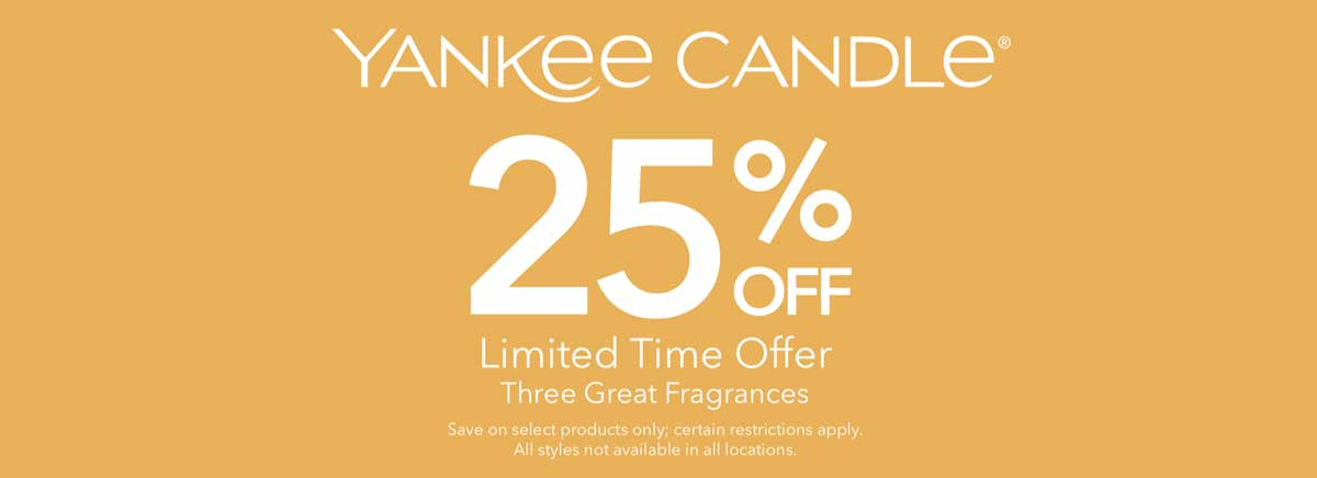 Three great fragrances, each 25% off. Hurry in, limited time offer!